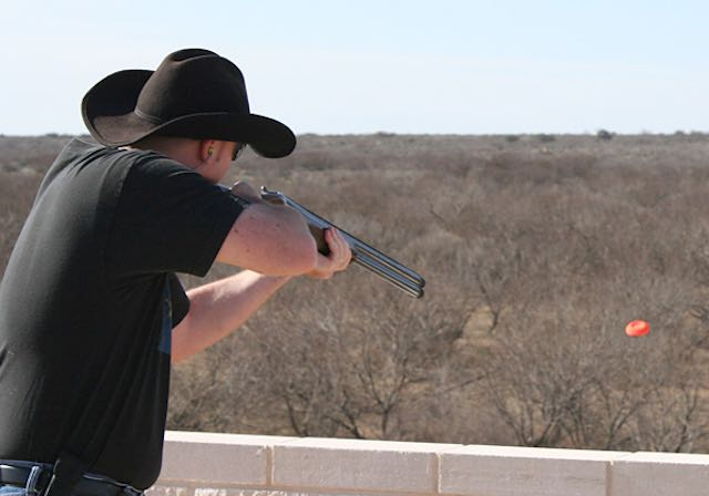 Man Skeet Shooting at El Rancho Arenosa