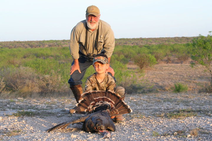 Boy Turkey Hunter at El Rancho Arenosa in South Texas